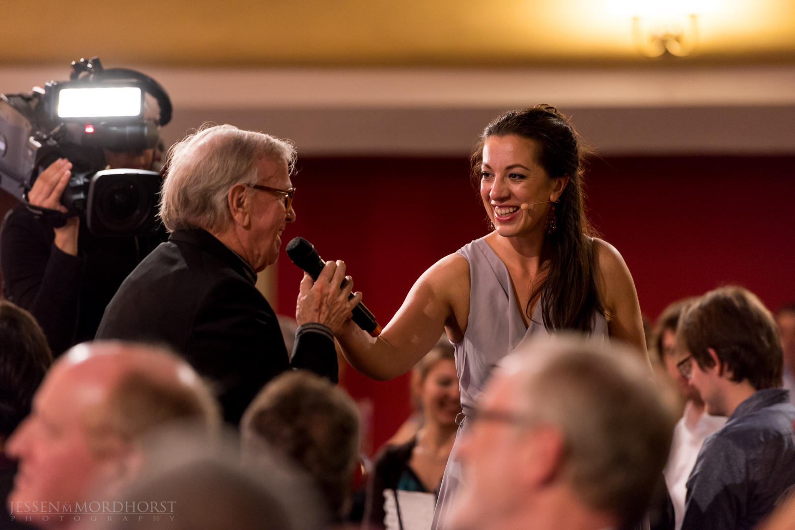 Klaus Doldinger (Ehrenpreis 2016), Moderatorin Ellen Schweda