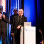 Staatsminister Rainer Robra (Chef der Staatskanzlei des Landes Sachsen-Anhalt und Minister für Kultur), Bernd Wefelmeyer (Ehrenpreis 2015), Klaus Doldinger (Ehrenpreis 2016)