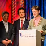 Alexander Thies, Torsten Giewat mit Nachwuchspreisträger Simon Rummel