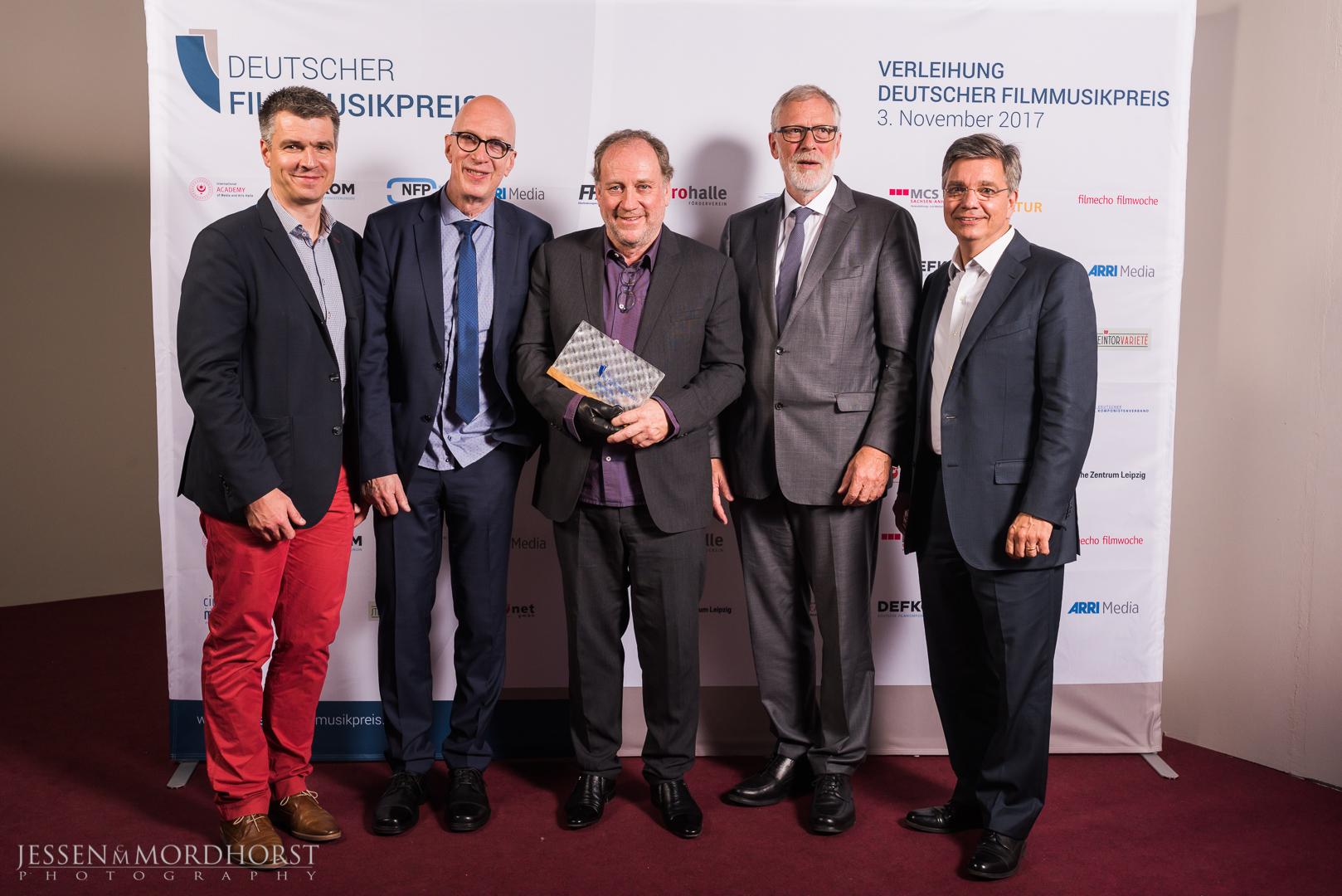 v.l.n.r. Mike Riemenschneider, Micki Meuser, Harold Faltermeyer, Rainer Robra, Alexander Thies